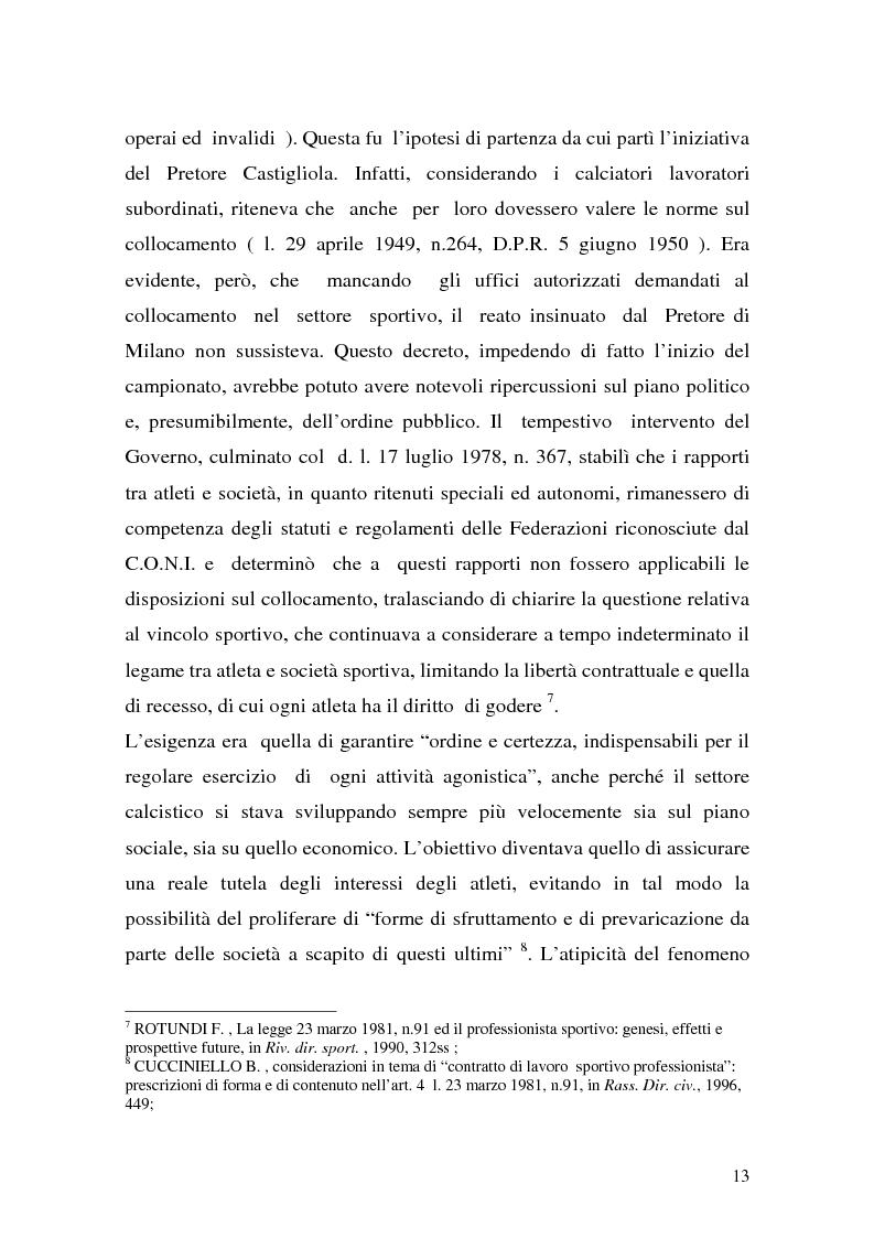Anteprima della tesi: Il lavoro sportivo, Pagina 9