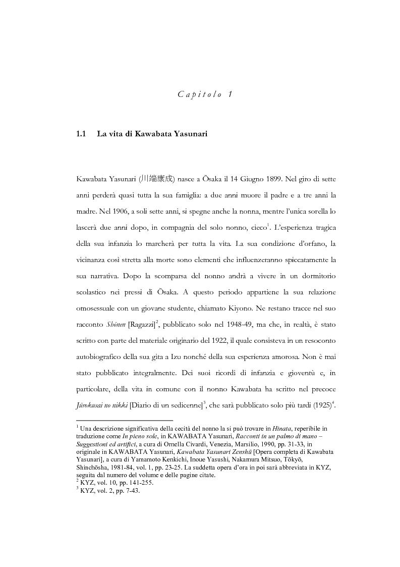 Anteprima della tesi: Tempo, memoria e impulso antinarrativo in Yama no oto di Kawabata Yasunari, Pagina 4