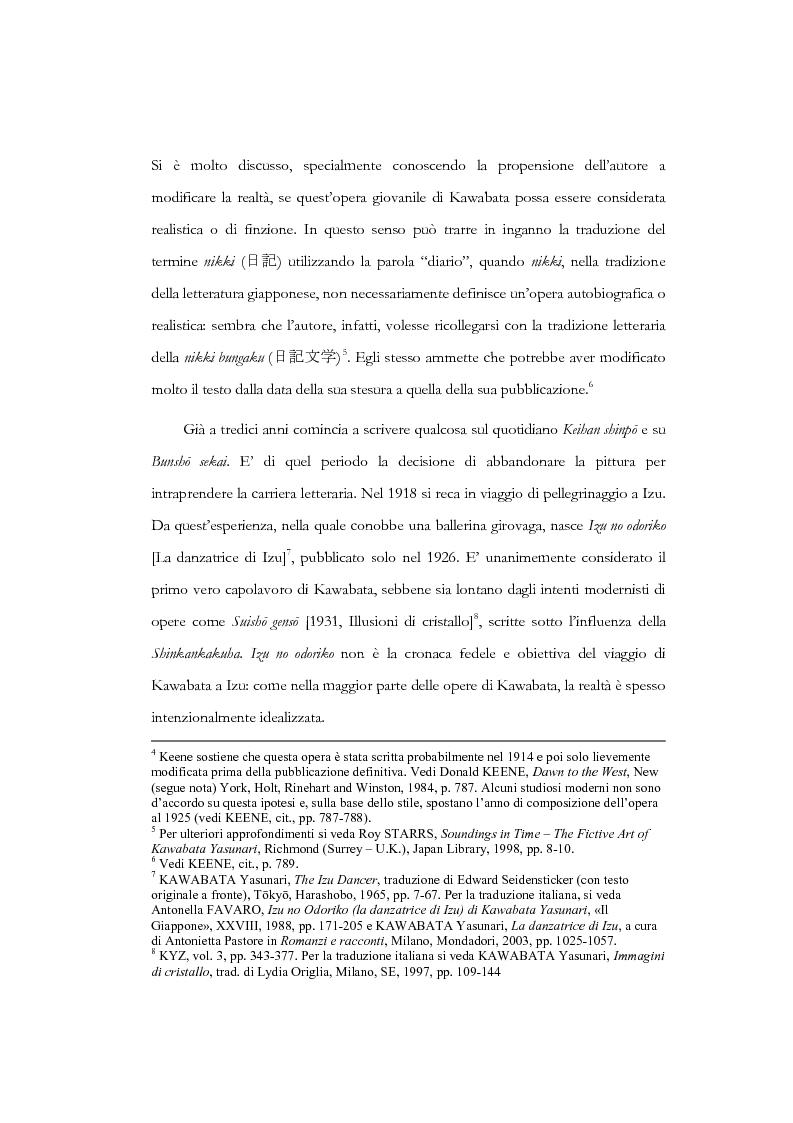 Anteprima della tesi: Tempo, memoria e impulso antinarrativo in Yama no oto di Kawabata Yasunari, Pagina 5