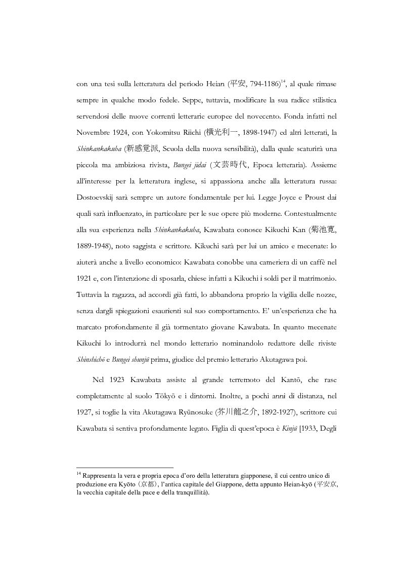 Anteprima della tesi: Tempo, memoria e impulso antinarrativo in Yama no oto di Kawabata Yasunari, Pagina 7
