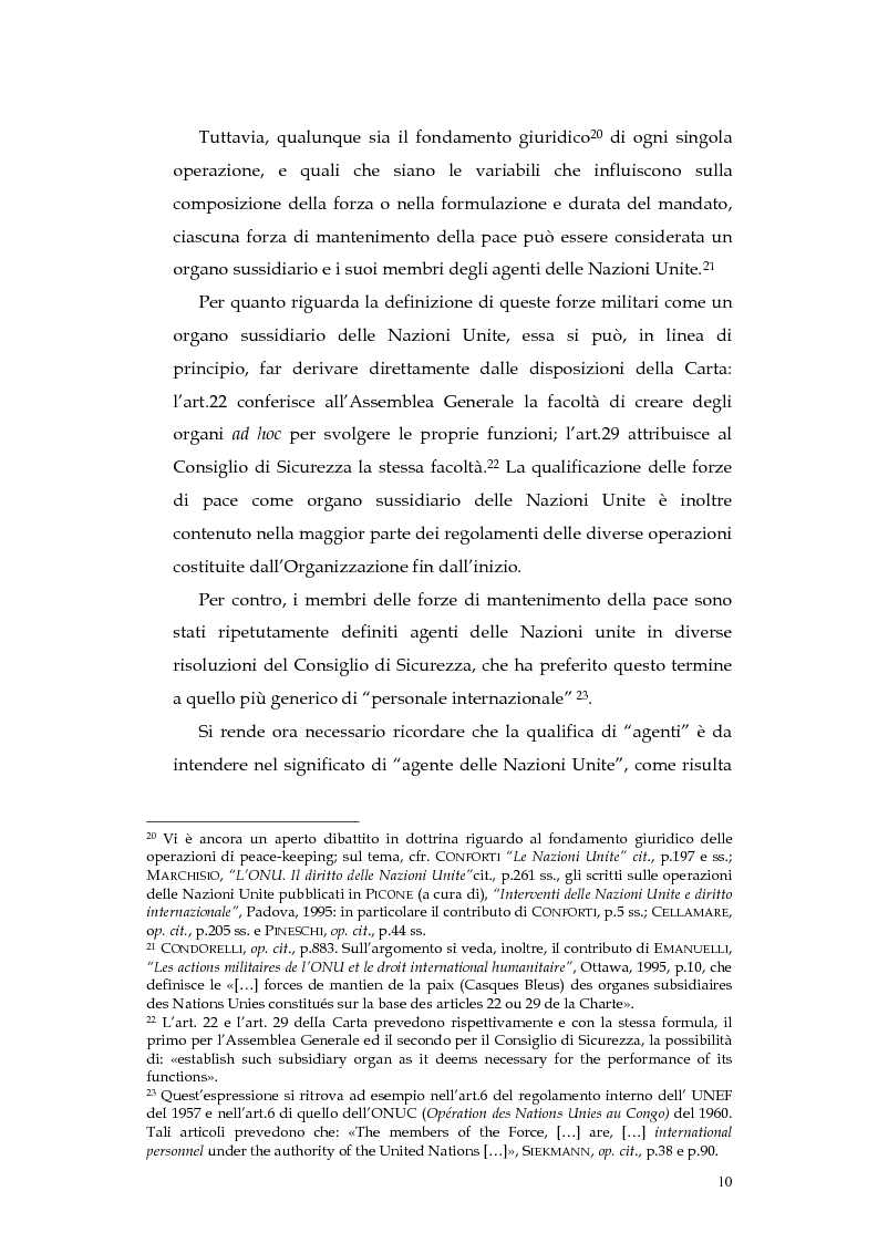 Anteprima della tesi: Operazioni delle Nazioni Unite per il mantenimento della pace e obblighi di diritto internazionale umanitario, Pagina 10