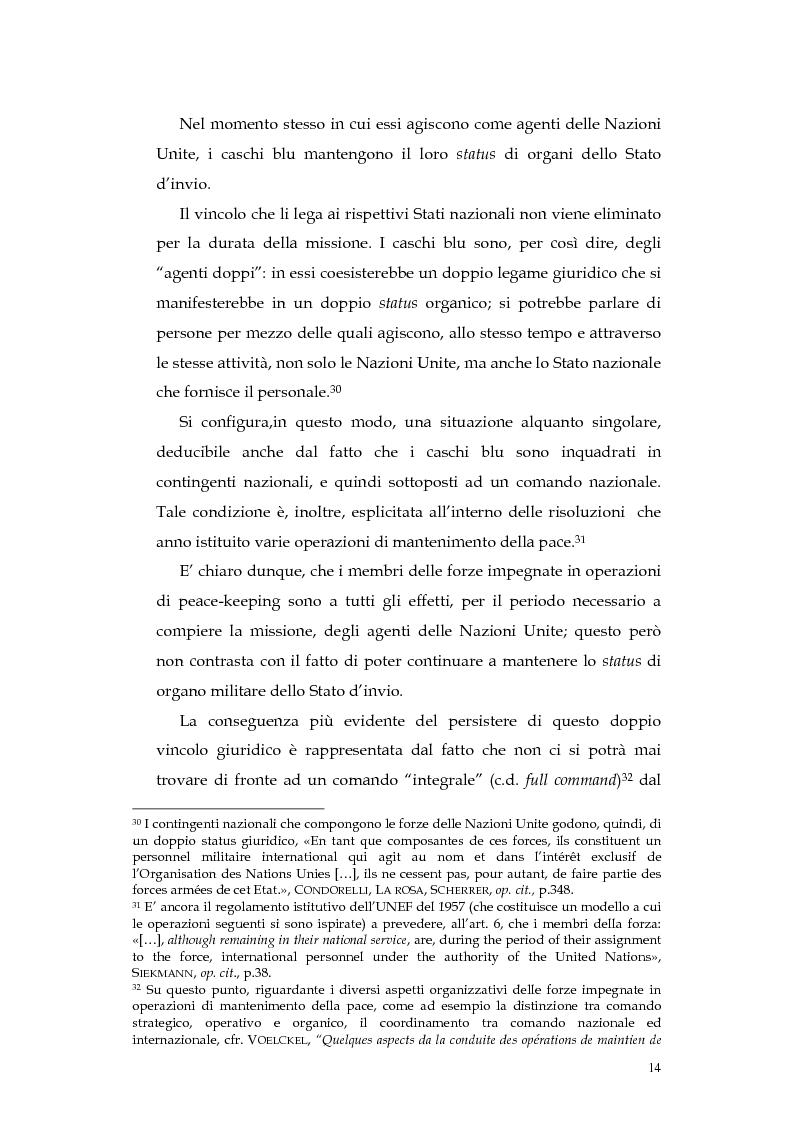 Anteprima della tesi: Operazioni delle Nazioni Unite per il mantenimento della pace e obblighi di diritto internazionale umanitario, Pagina 14