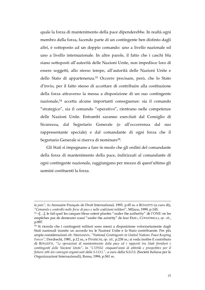 Anteprima della tesi: Operazioni delle Nazioni Unite per il mantenimento della pace e obblighi di diritto internazionale umanitario, Pagina 15