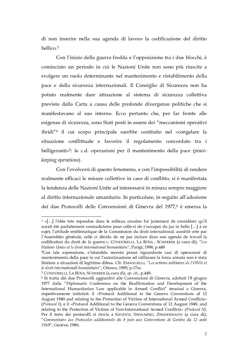 Anteprima della tesi: Operazioni delle Nazioni Unite per il mantenimento della pace e obblighi di diritto internazionale umanitario, Pagina 2