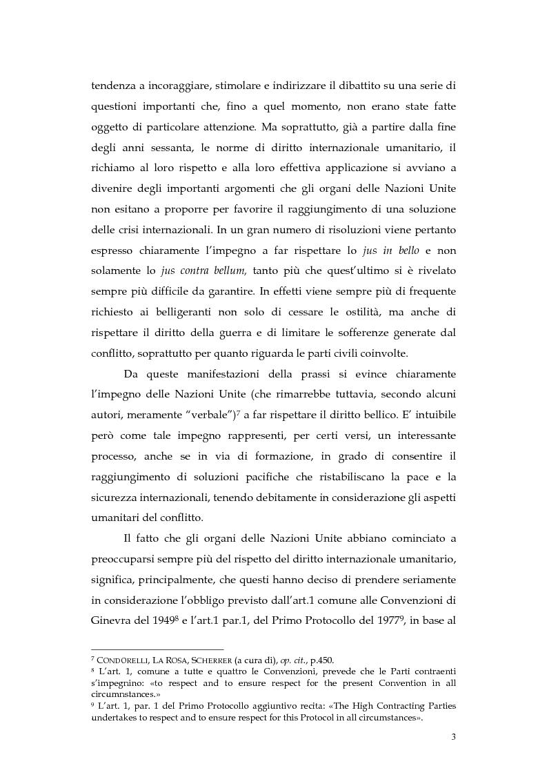 Anteprima della tesi: Operazioni delle Nazioni Unite per il mantenimento della pace e obblighi di diritto internazionale umanitario, Pagina 3