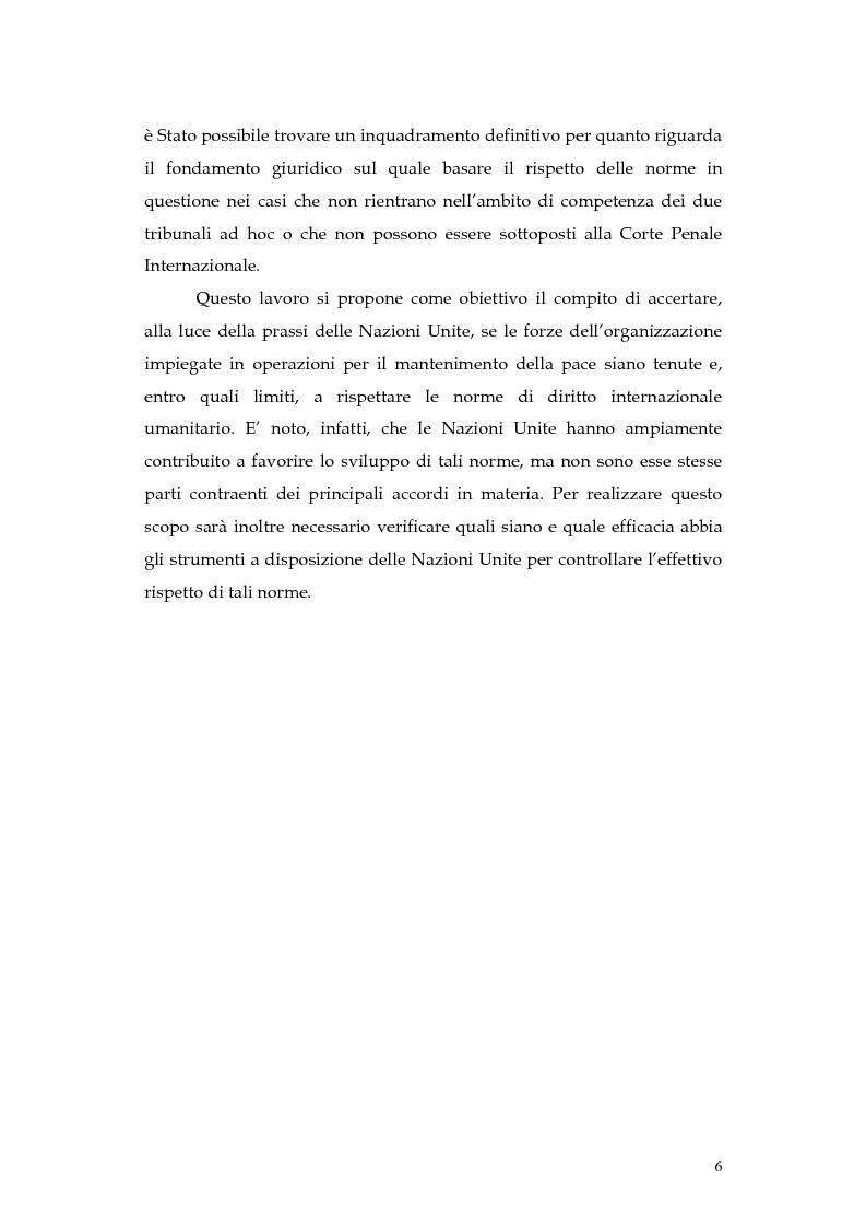 Anteprima della tesi: Operazioni delle Nazioni Unite per il mantenimento della pace e obblighi di diritto internazionale umanitario, Pagina 6