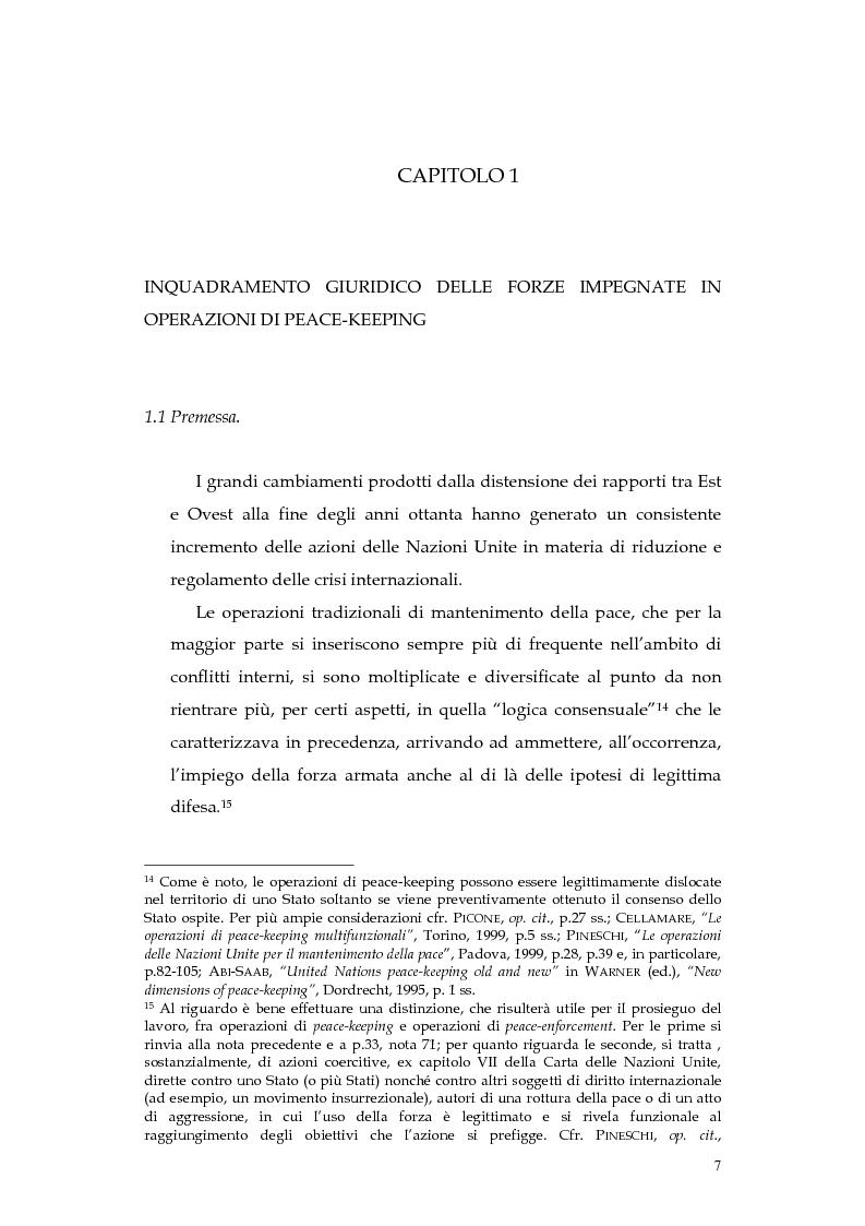 Anteprima della tesi: Operazioni delle Nazioni Unite per il mantenimento della pace e obblighi di diritto internazionale umanitario, Pagina 7