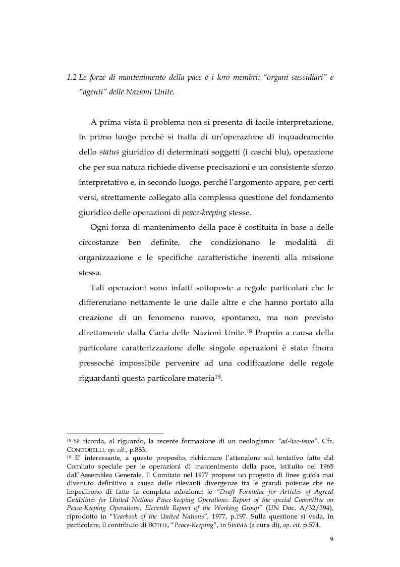 Anteprima della tesi: Operazioni delle Nazioni Unite per il mantenimento della pace e obblighi di diritto internazionale umanitario, Pagina 9