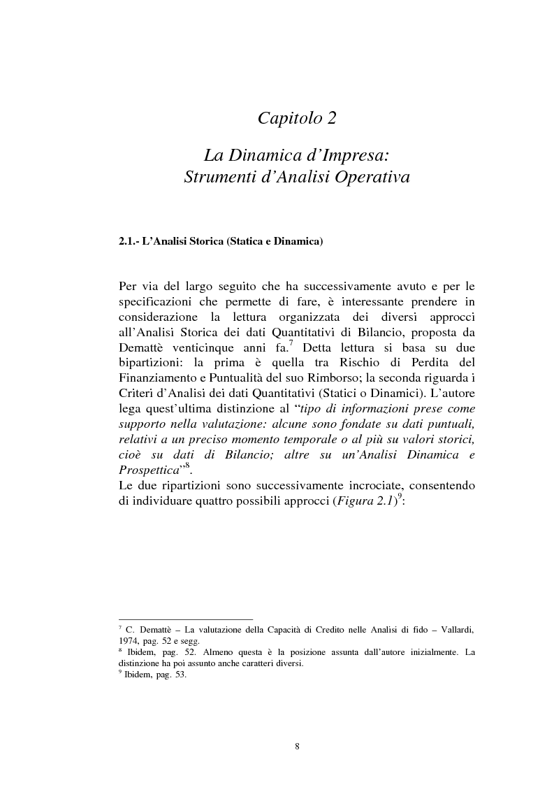 Anteprima della tesi: Il ruolo dei dati quantitativi di bilancio nell'analisi delle dinamiche d'impresa. Applicazioni nella Cassa di Risparmio di Pistoia e Pescia SpA, Pagina 8