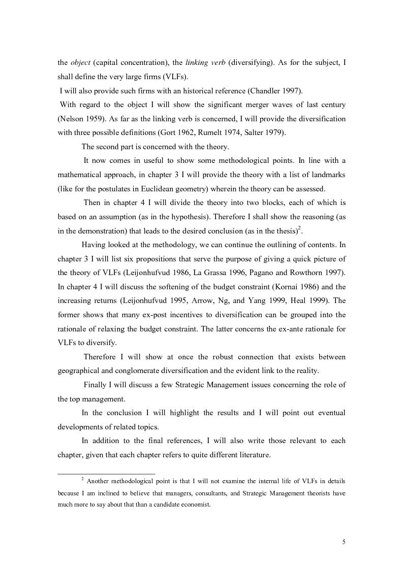 Anteprima della tesi: A Theory of Diversification, Pagina 2