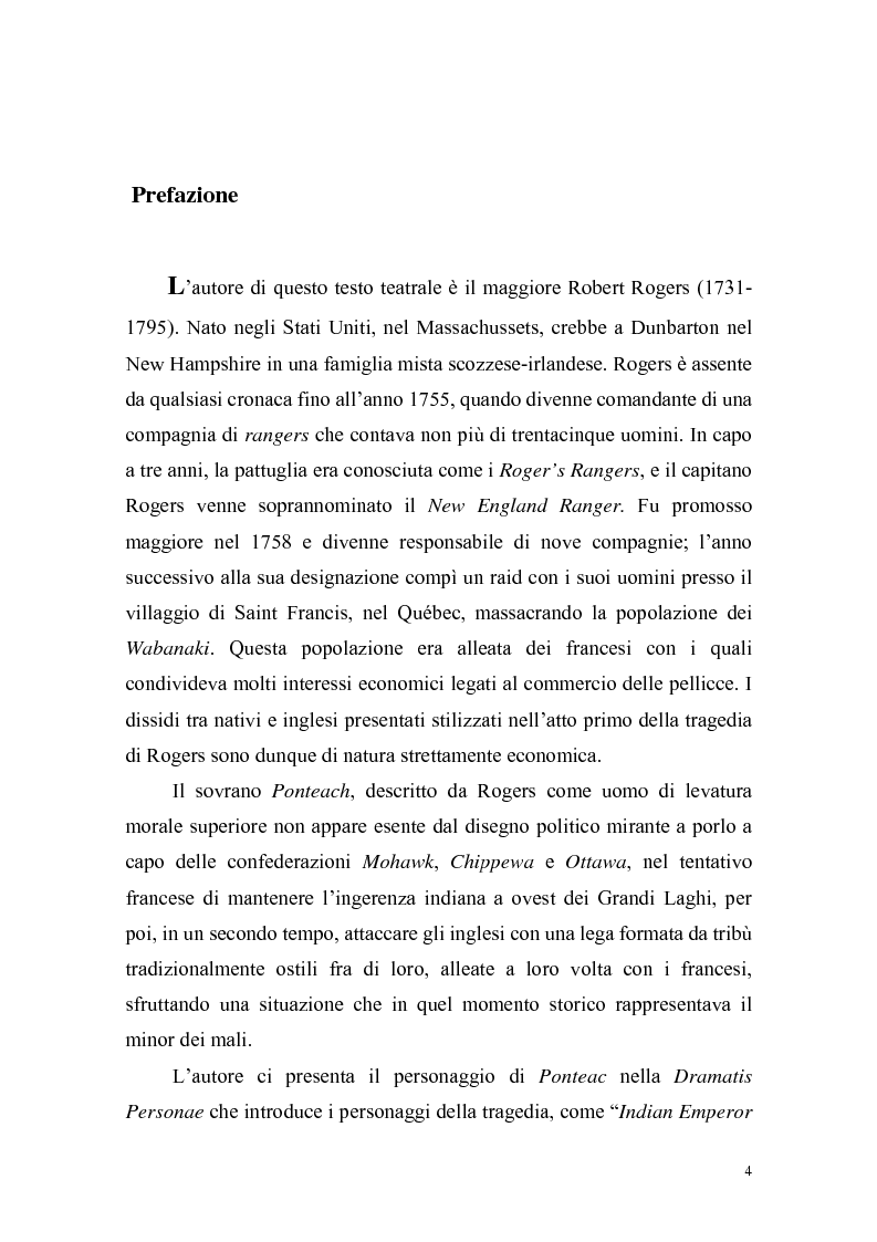 Anteprima della tesi: Ponteach Or The Savages of America, Pagina 1