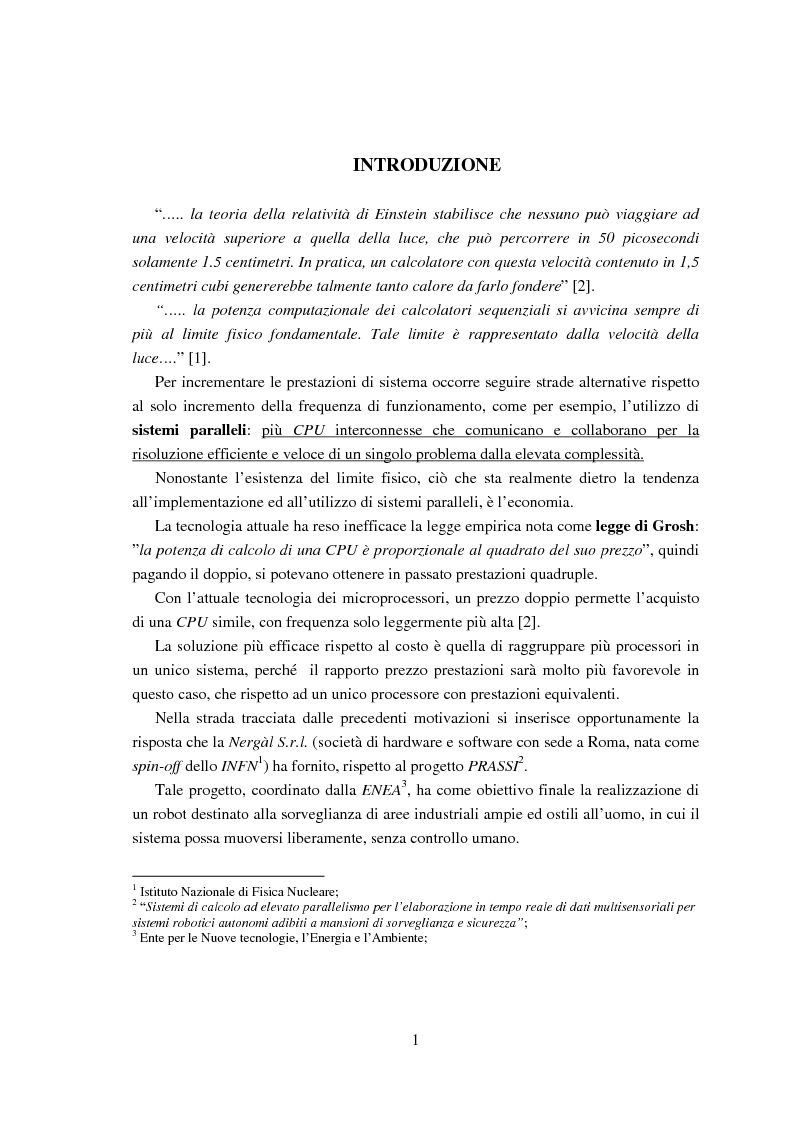 Anteprima della tesi: Implementazione di una libreria Mpi-like per una scheda proprietaria multi-Dsp, Pagina 1