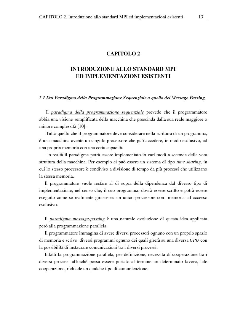Anteprima della tesi: Implementazione di una libreria Mpi-like per una scheda proprietaria multi-Dsp, Pagina 13