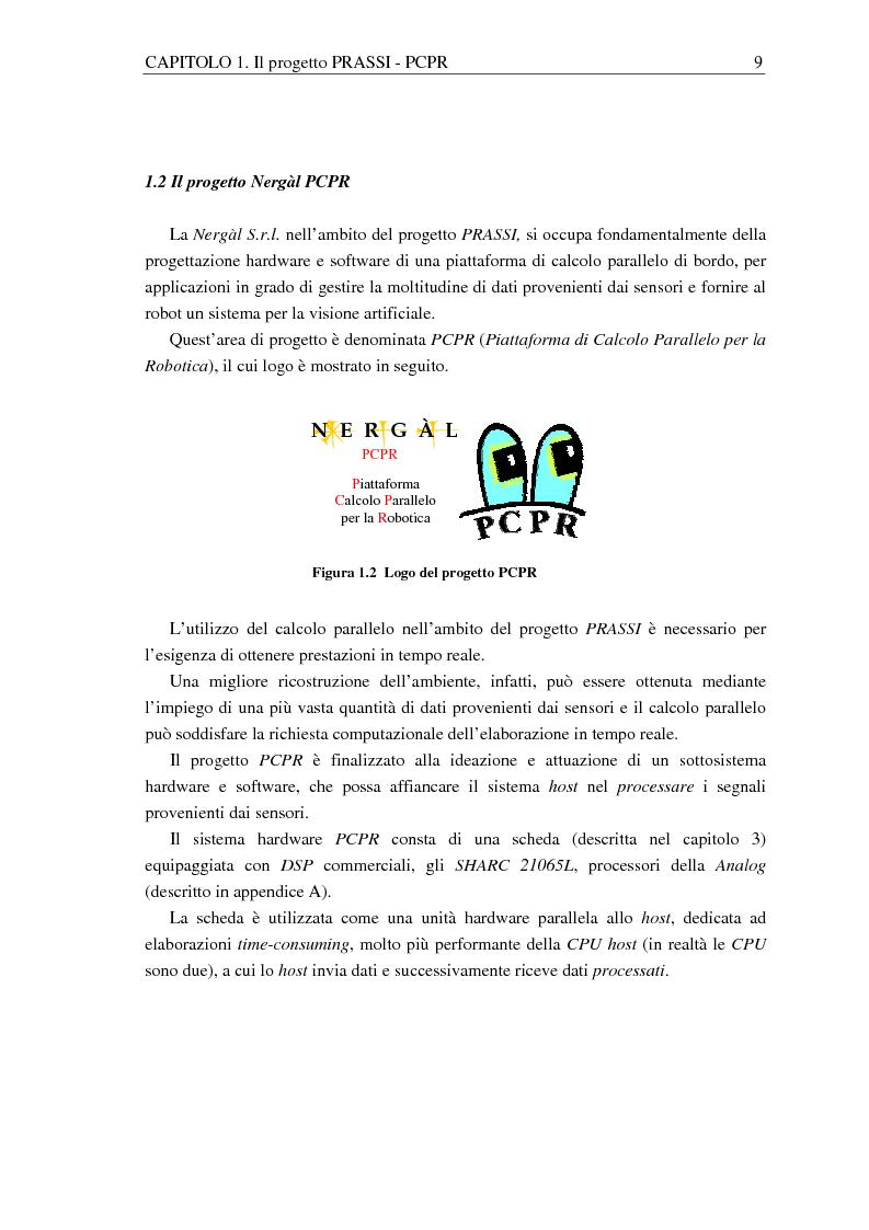 Anteprima della tesi: Implementazione di una libreria Mpi-like per una scheda proprietaria multi-Dsp, Pagina 9