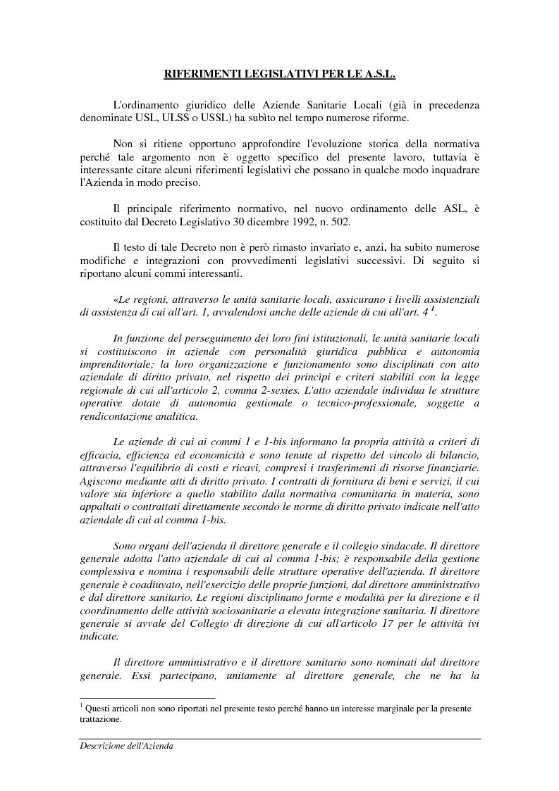Anteprima della tesi: Mobilità sanitaria - Documentazione ed estensione del sistema informativo, Pagina 6