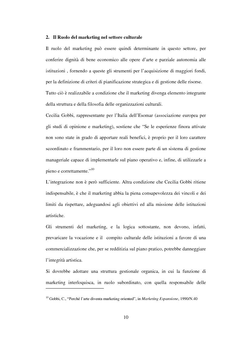 Anteprima della tesi: Marketing delle arti e della cultura: principi, strumenti, applicazioni, Pagina 10
