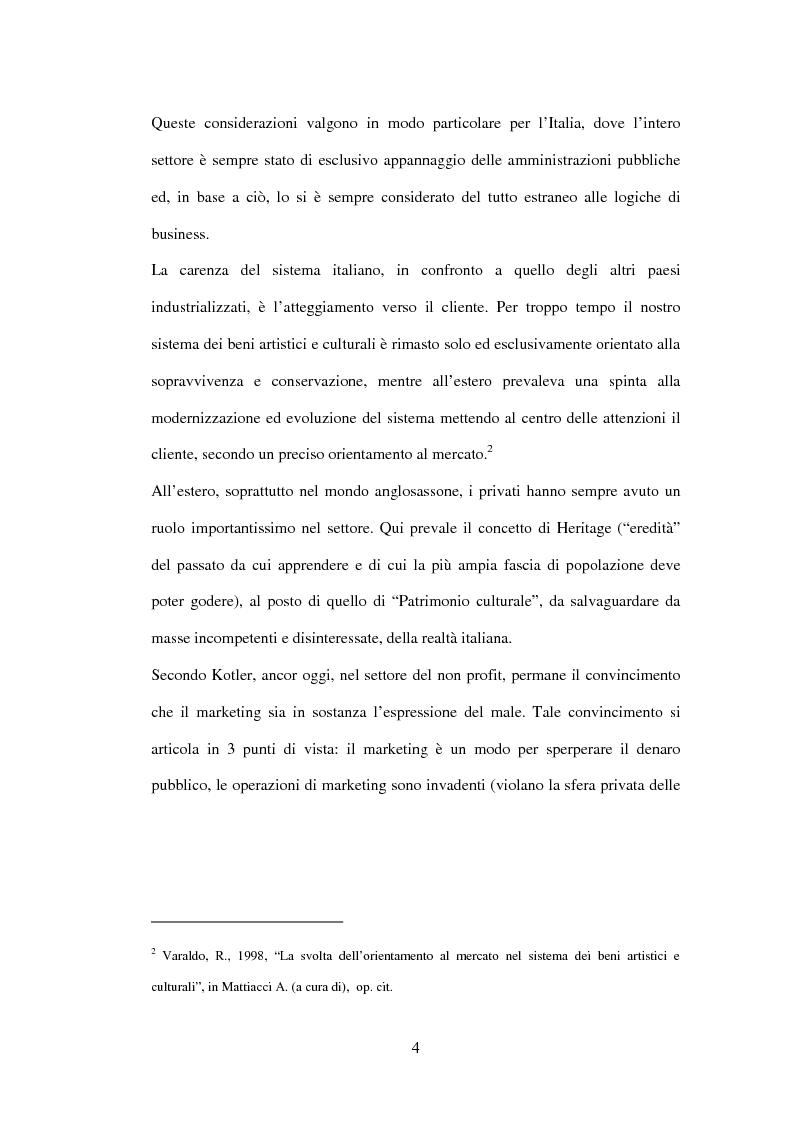Anteprima della tesi: Marketing delle arti e della cultura: principi, strumenti, applicazioni, Pagina 4