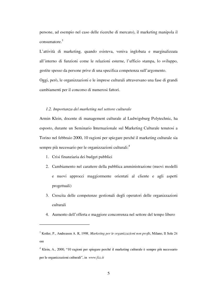 Anteprima della tesi: Marketing delle arti e della cultura: principi, strumenti, applicazioni, Pagina 5