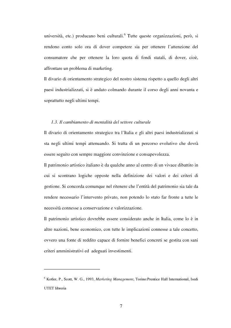 Anteprima della tesi: Marketing delle arti e della cultura: principi, strumenti, applicazioni, Pagina 7