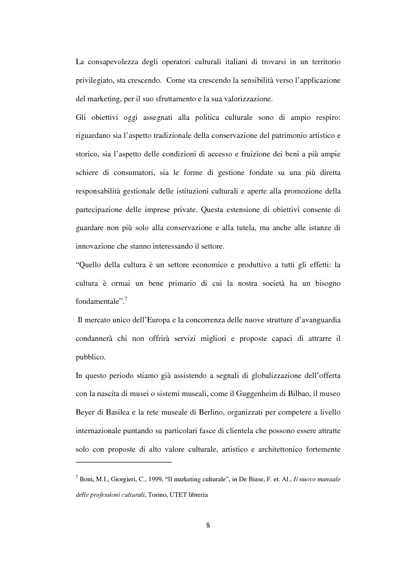 Anteprima della tesi: Marketing delle arti e della cultura: principi, strumenti, applicazioni, Pagina 8
