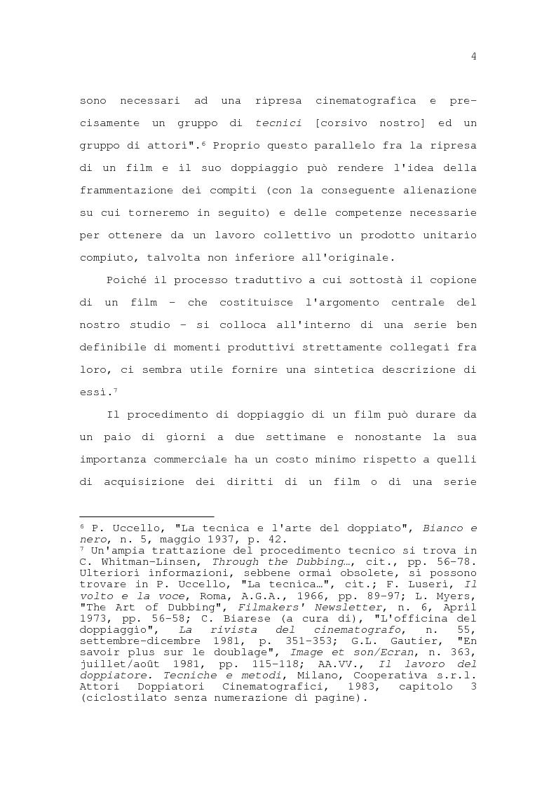 Anteprima della tesi: Il problema della traduzione nel doppiaggio cinematografico in Italia, Pagina 10