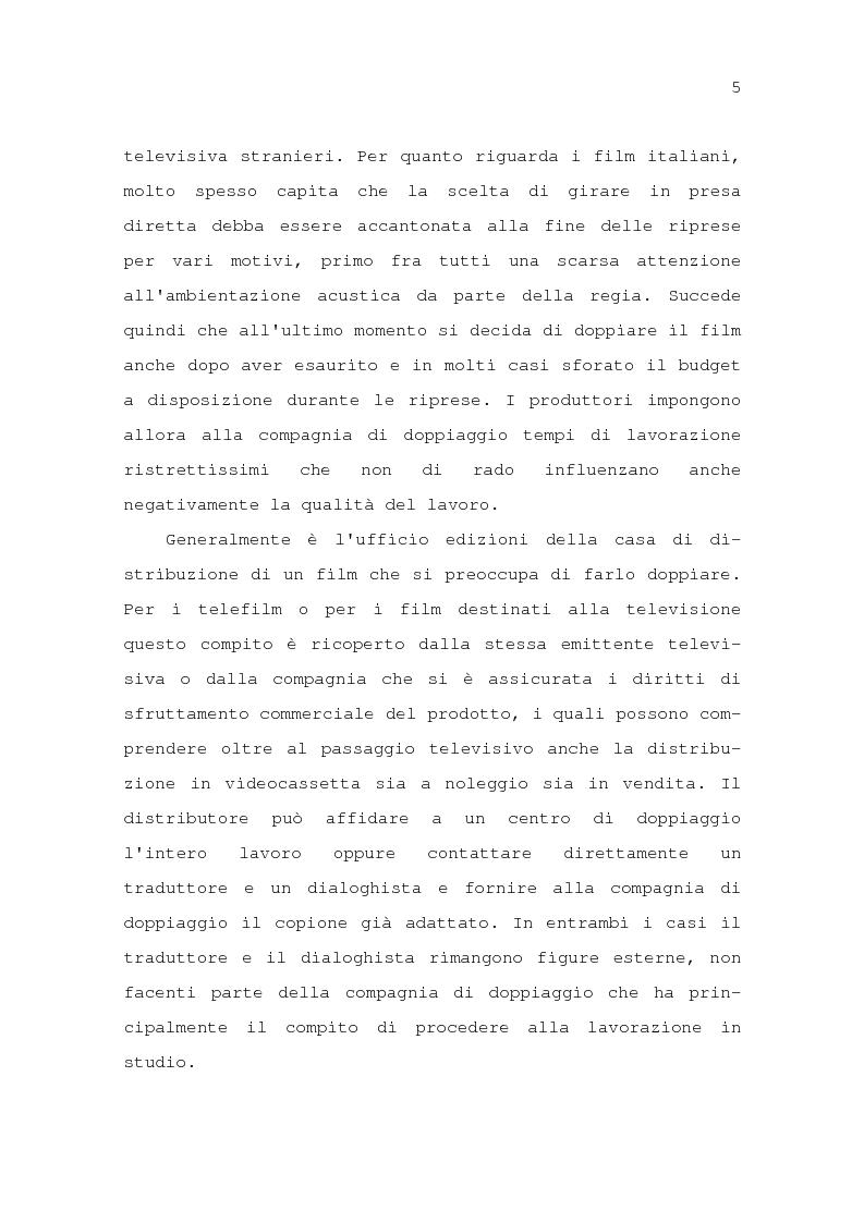 Anteprima della tesi: Il problema della traduzione nel doppiaggio cinematografico in Italia, Pagina 11