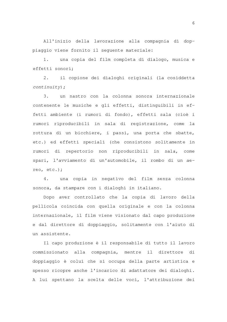 Anteprima della tesi: Il problema della traduzione nel doppiaggio cinematografico in Italia, Pagina 12