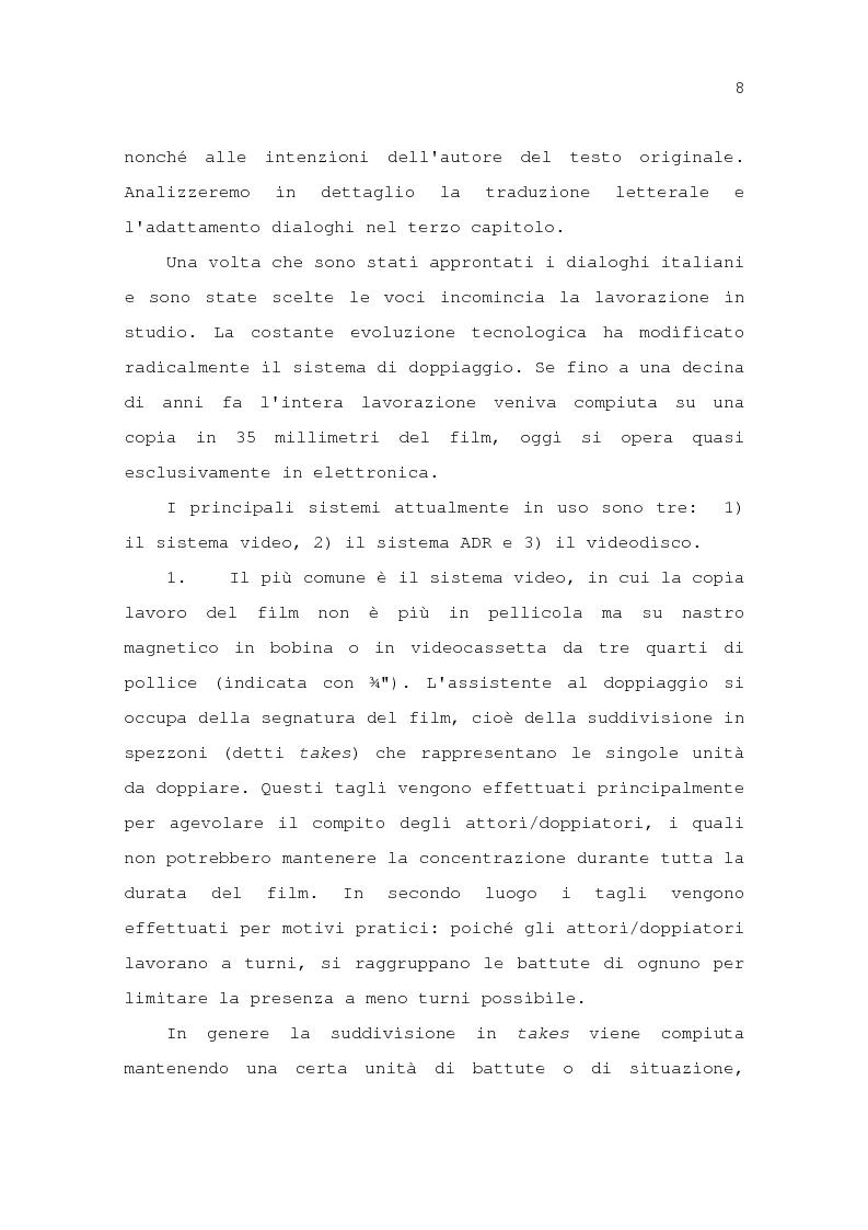 Anteprima della tesi: Il problema della traduzione nel doppiaggio cinematografico in Italia, Pagina 14