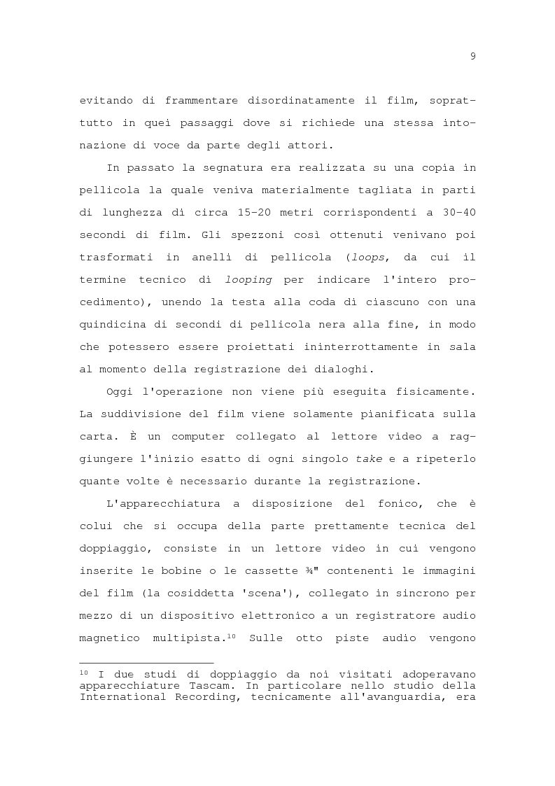 Anteprima della tesi: Il problema della traduzione nel doppiaggio cinematografico in Italia, Pagina 15