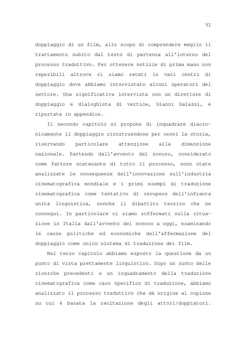 Anteprima della tesi: Il problema della traduzione nel doppiaggio cinematografico in Italia, Pagina 3
