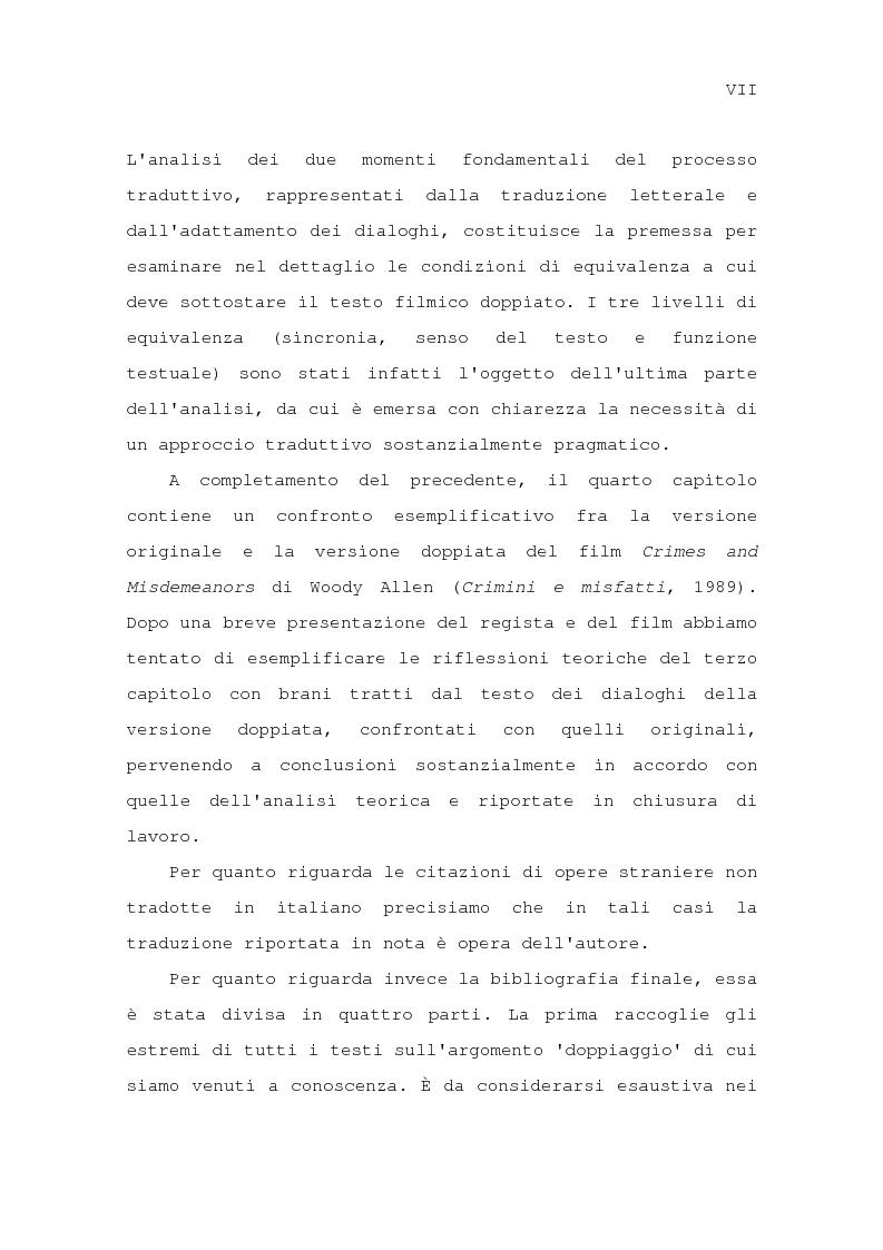 Anteprima della tesi: Il problema della traduzione nel doppiaggio cinematografico in Italia, Pagina 4