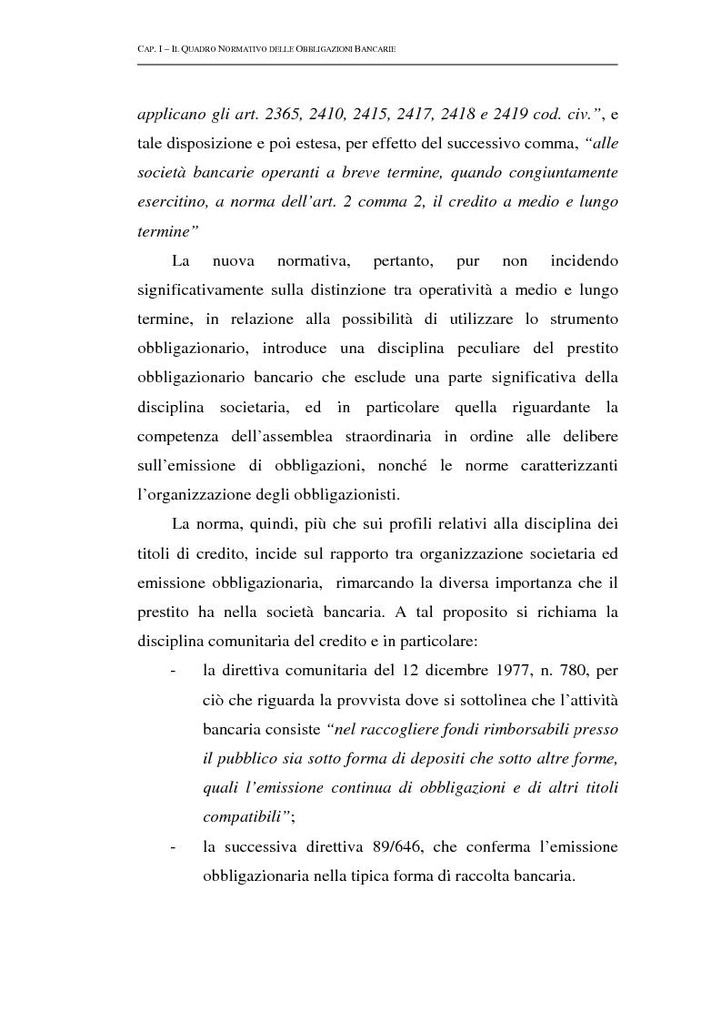 Anteprima della tesi: Le obbligazioni bancarie: profili normativi e implicazioni gestionali, Pagina 10