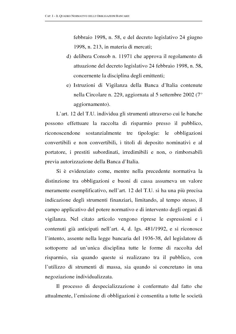 Anteprima della tesi: Le obbligazioni bancarie: profili normativi e implicazioni gestionali, Pagina 12