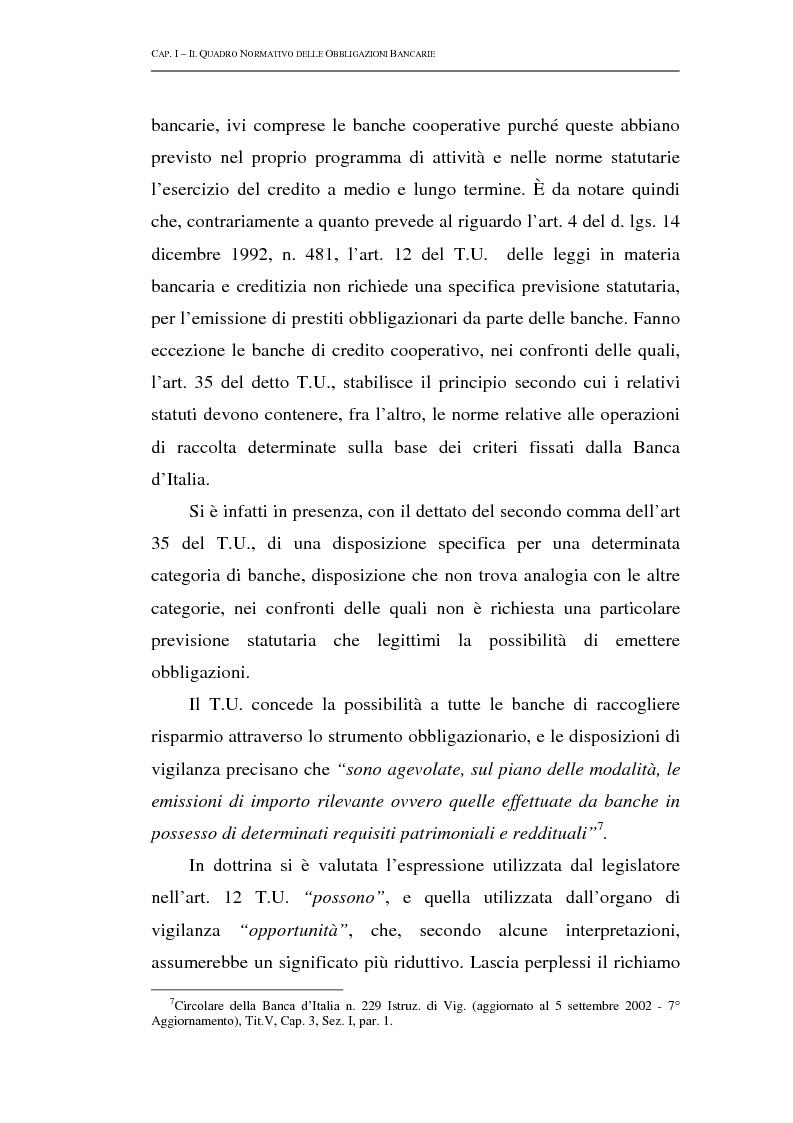 Anteprima della tesi: Le obbligazioni bancarie: profili normativi e implicazioni gestionali, Pagina 13