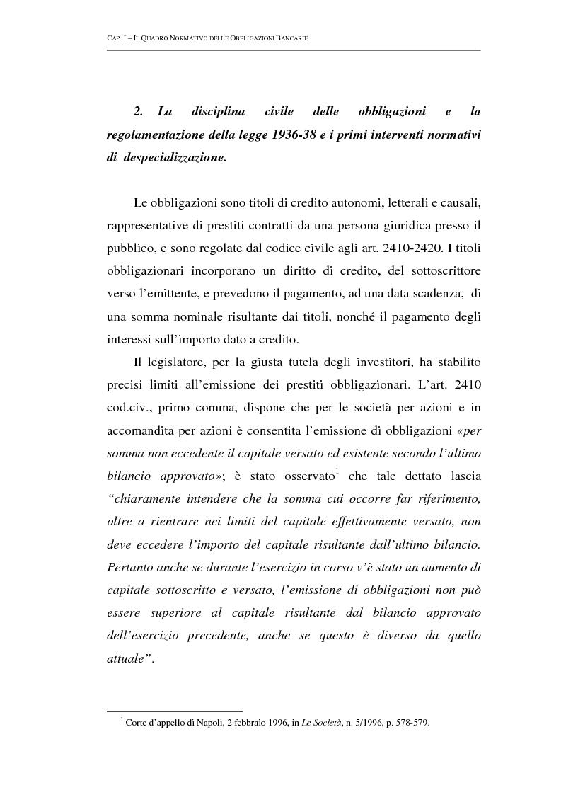 Anteprima della tesi: Le obbligazioni bancarie: profili normativi e implicazioni gestionali, Pagina 4