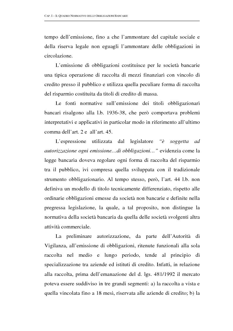 Anteprima della tesi: Le obbligazioni bancarie: profili normativi e implicazioni gestionali, Pagina 6
