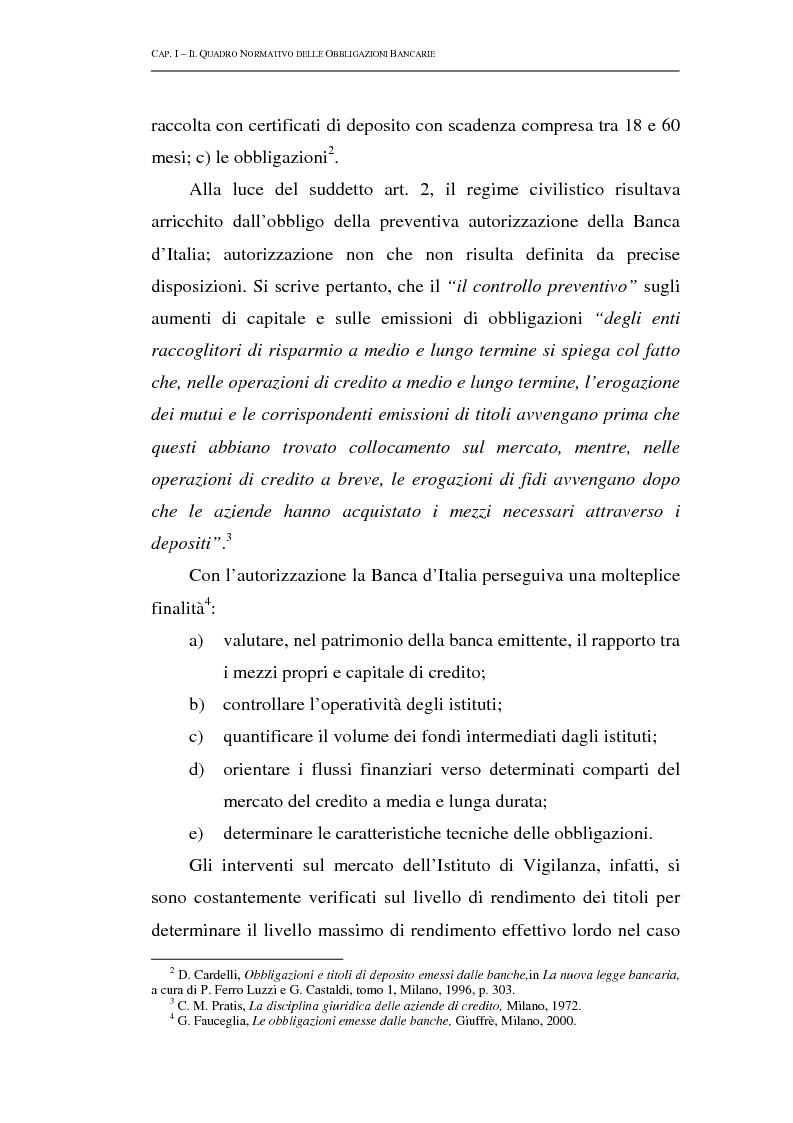 Anteprima della tesi: Le obbligazioni bancarie: profili normativi e implicazioni gestionali, Pagina 7