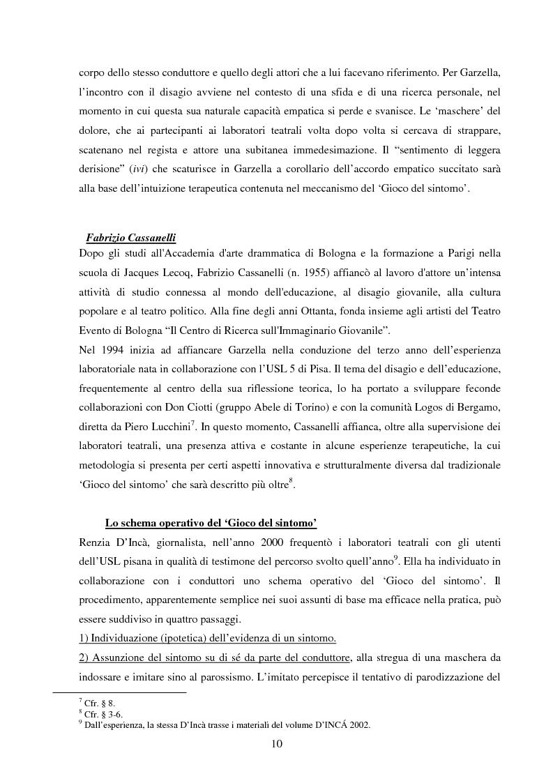 Anteprima della tesi: Esperienze di teatro e terapia in Italia dal 1990 al 2002, Pagina 10