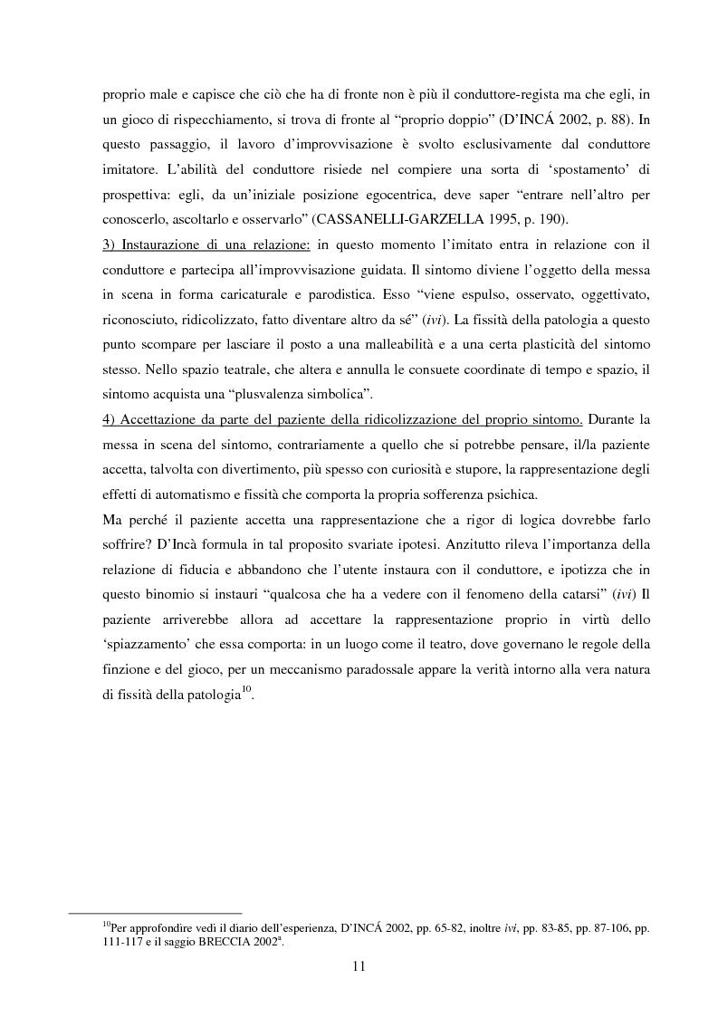 Anteprima della tesi: Esperienze di teatro e terapia in Italia dal 1990 al 2002, Pagina 11