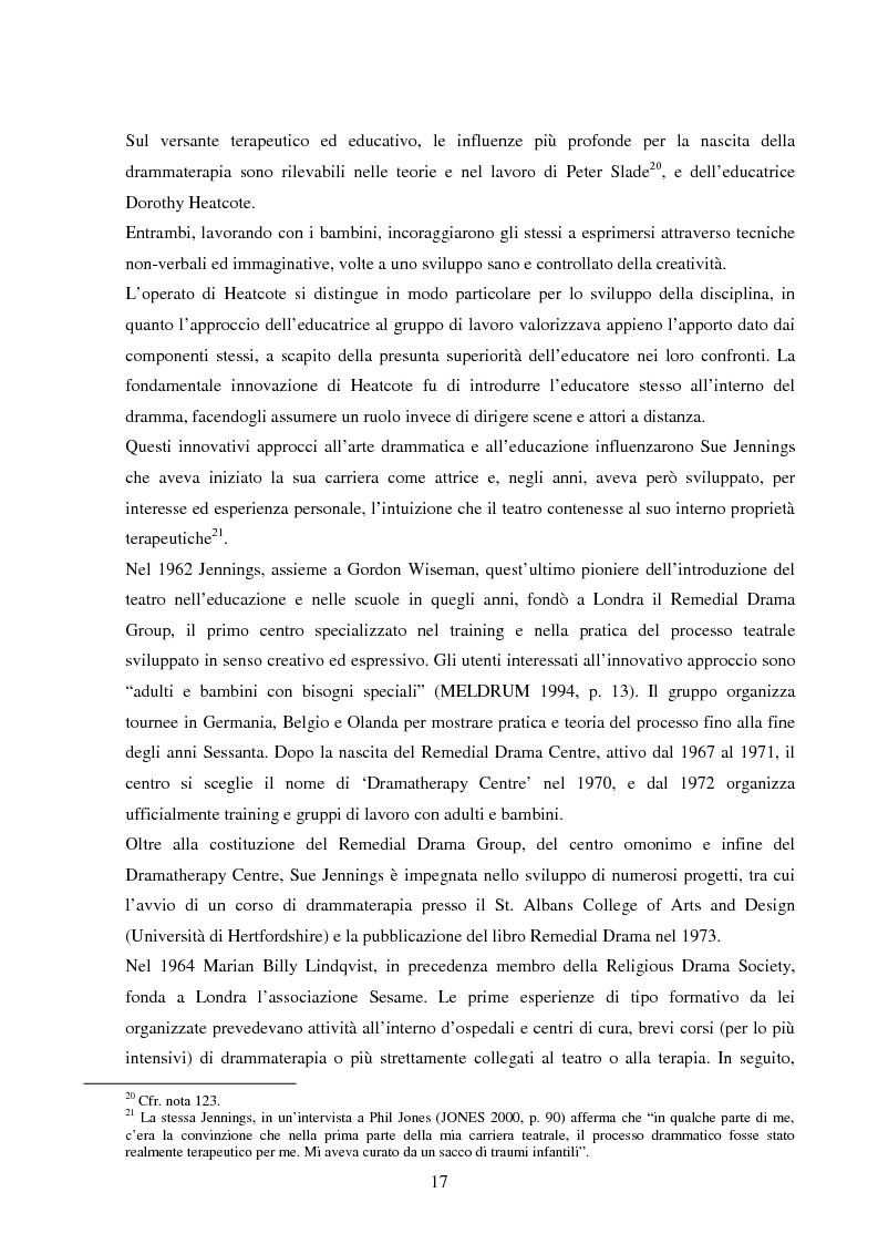 Anteprima della tesi: Esperienze di teatro e terapia in Italia dal 1990 al 2002, Pagina 17