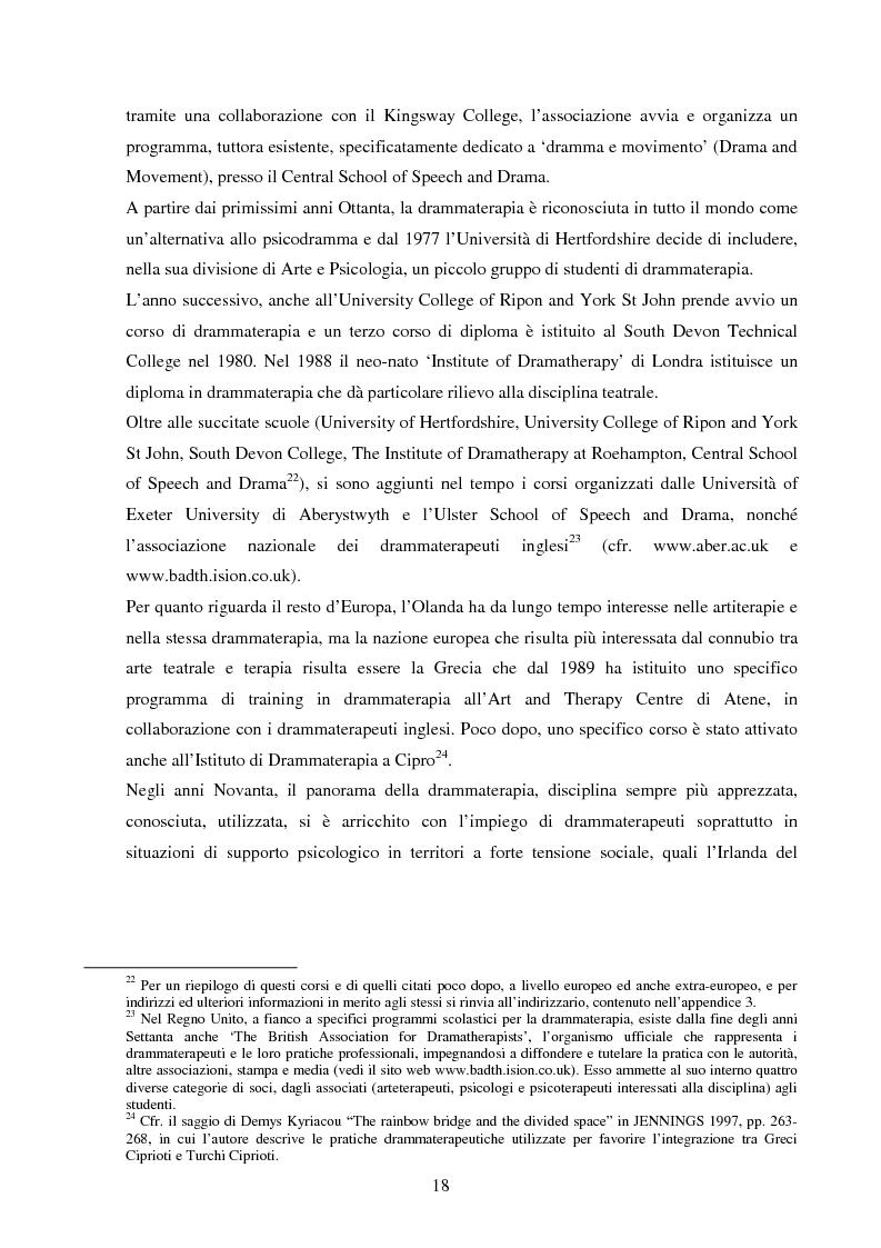 Anteprima della tesi: Esperienze di teatro e terapia in Italia dal 1990 al 2002, Pagina 18