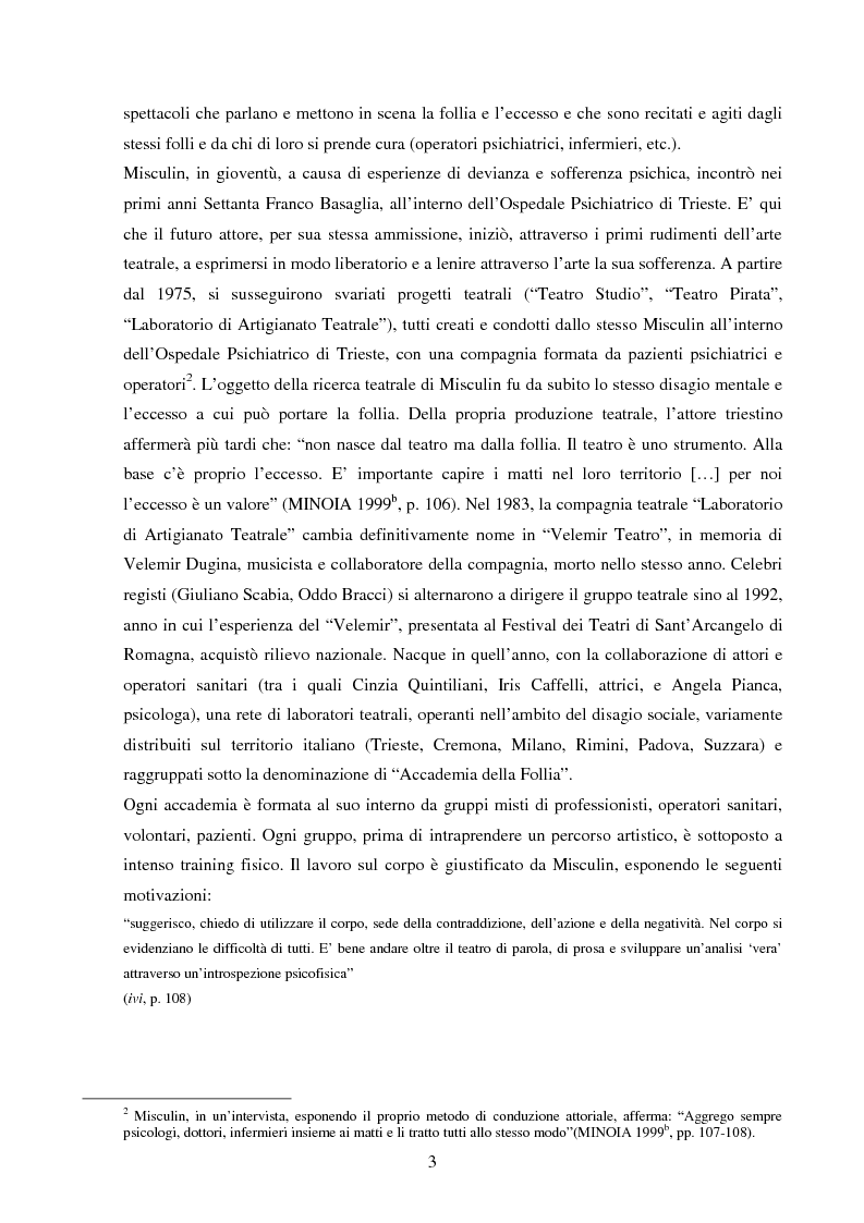 Anteprima della tesi: Esperienze di teatro e terapia in Italia dal 1990 al 2002, Pagina 3