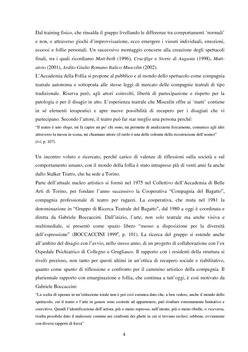 Anteprima della tesi: Esperienze di teatro e terapia in Italia dal 1990 al 2002, Pagina 4