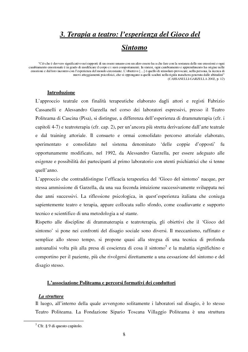 Anteprima della tesi: Esperienze di teatro e terapia in Italia dal 1990 al 2002, Pagina 8