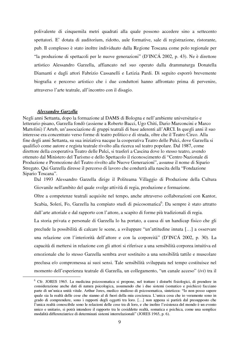 Anteprima della tesi: Esperienze di teatro e terapia in Italia dal 1990 al 2002, Pagina 9