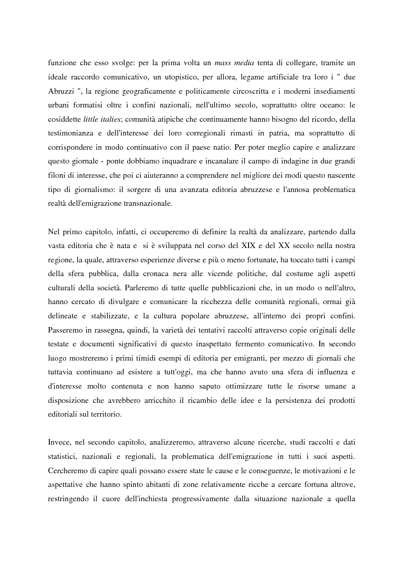 Anteprima della tesi: Un giornale per emigranti: ''La Voce di Fossacesia'', Pagina 2