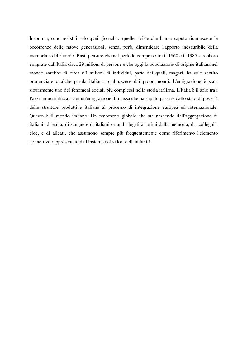 Anteprima della tesi: Un giornale per emigranti: ''La Voce di Fossacesia'', Pagina 5