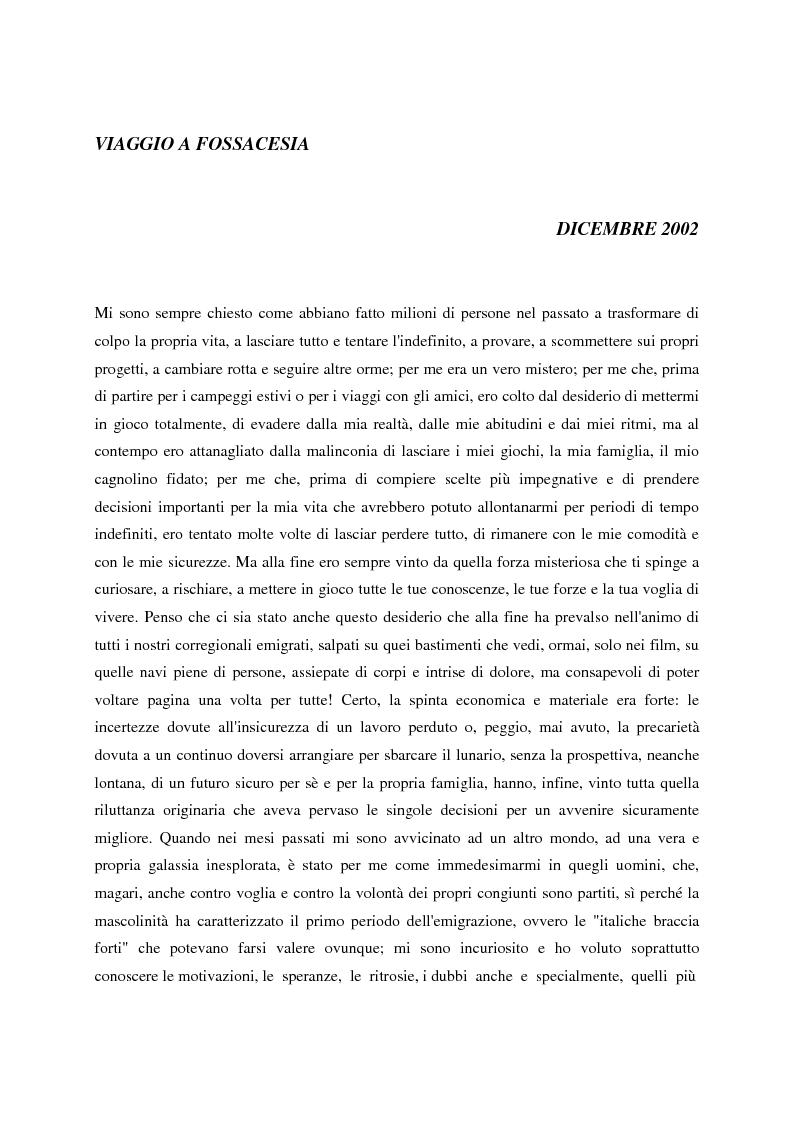 Anteprima della tesi: Un giornale per emigranti: ''La Voce di Fossacesia'', Pagina 6
