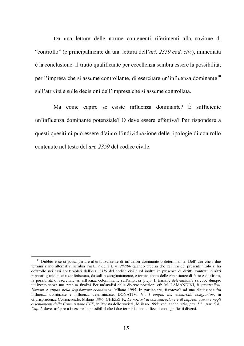 Anteprima della tesi: Le partecipazioni a ''controllo congiunto'': il caso delle joint ventures, Pagina 10