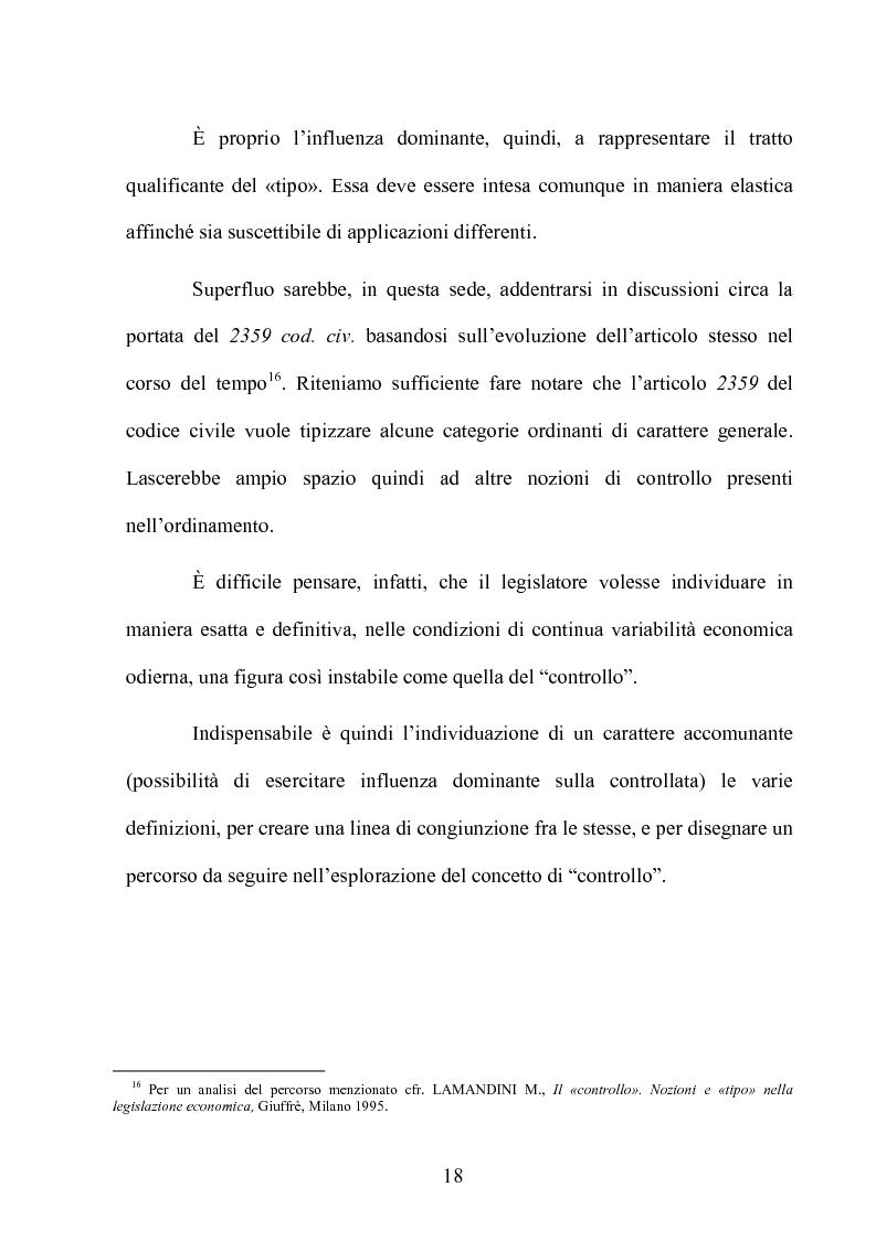 Anteprima della tesi: Le partecipazioni a ''controllo congiunto'': il caso delle joint ventures, Pagina 13